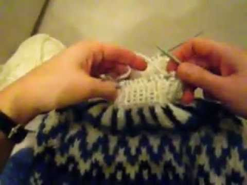 How to knit a lopapeysa step by step. German twisted cable cast on is shown also. More