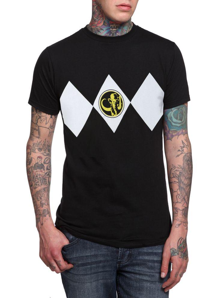 Mighty Morphin' Power Rangers Black Ranger Costume T-Shirt $20.50