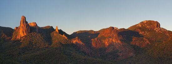 The Breadknife  from Macha Tor, Warrumbungle National Park, NSW,