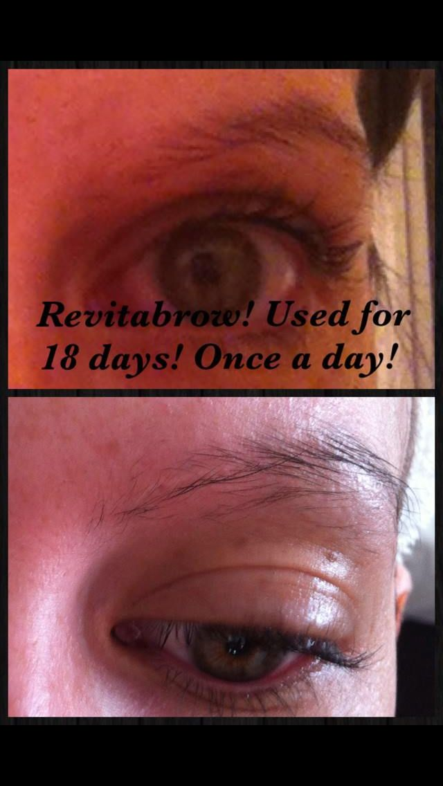RevitaBrow on day one and day 18. #victorialashes #shockhairsalon #revitabrow #eyebrows #plymouth