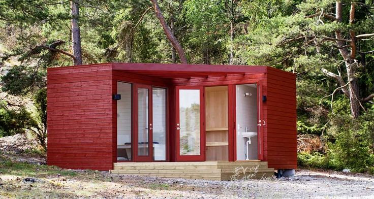 Above is the SASA1, a design fromKjellander + Sjoberg Arkitektkontor, an architectural firm in Stockholm, Sweden. They have developed a line of 15m2 (160 square feet) cabins designed to avoid building permits. They can be adapted for many different functions such as saunas, studios, garden offices, and workshops. Some can even be used year-round. The …