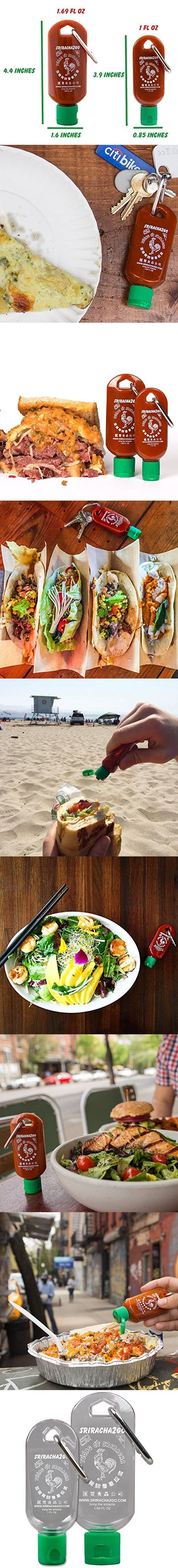 Sriracha Mini Keychain Combo Pack (1.7 Ounce and 1 Ounce, Sauce Not Included)