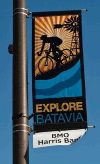 Street banners designed for Batavia MainStreet, Batavia, IL