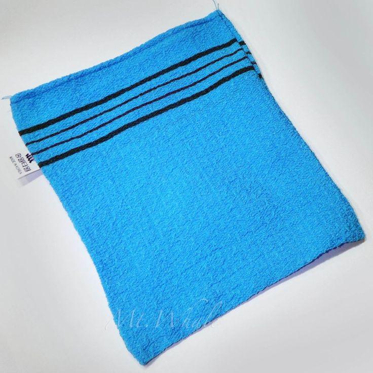 NEW! SMALL BLUE ITALY TOWEL KOREAN WASHCLOTH BODY SCRUBBER EXFOLIATING SONGWOL #Songwol