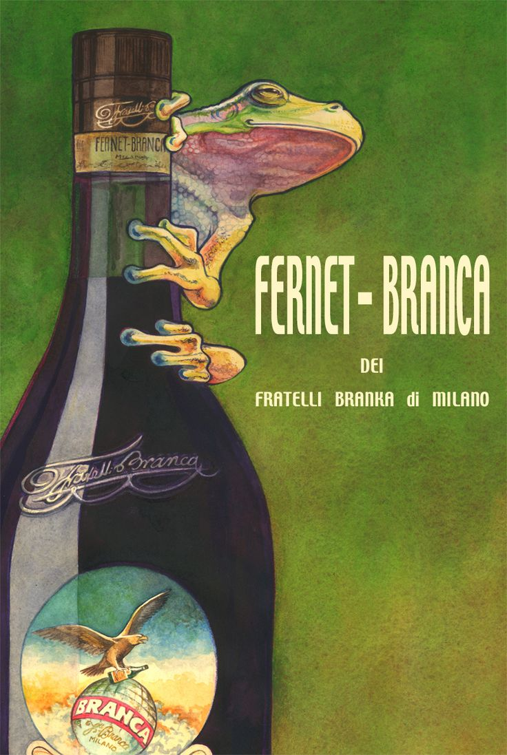 We love Fernet Branca and we dig this fantasy poster by Llyn Hunter. Respect!