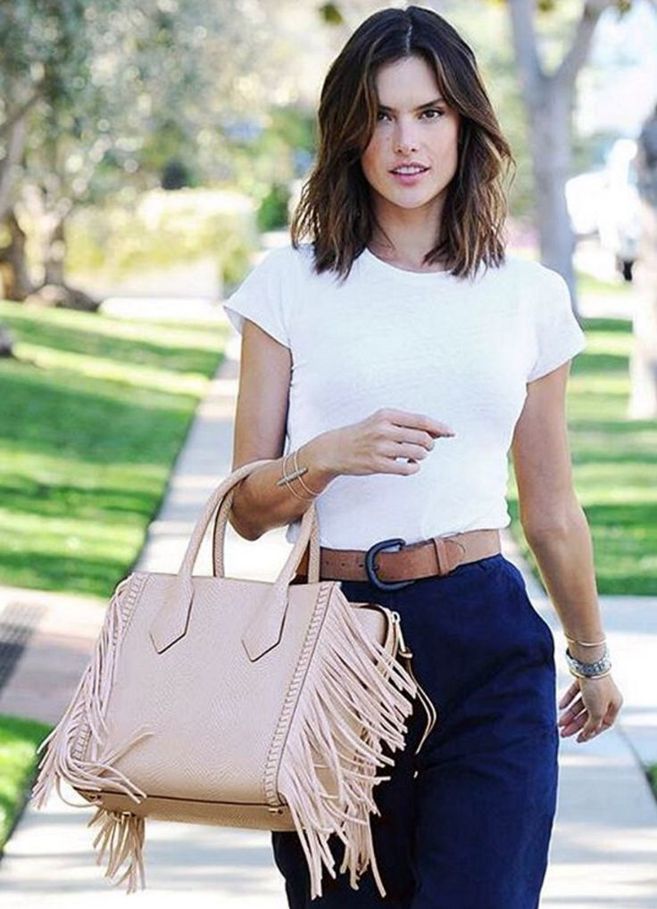 Spotted! Alessandra Ambrosio wears the new Rivington Fringe Tote.