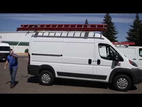 Promaster Transit Sprinter Mid Roof Van Drop Down Ladder Rack