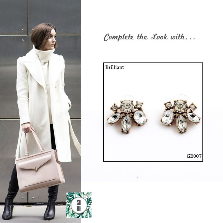 Ref: GE007 Brilliant Medidas: 2.1 cm x 1.7 cm  So Oh: 5.99  #sooh_store #onlinestore #style #inspiration #styleinspiration #brincos #earrings #fashion #shoponline #aw2016 #aw1617 #winterstyle