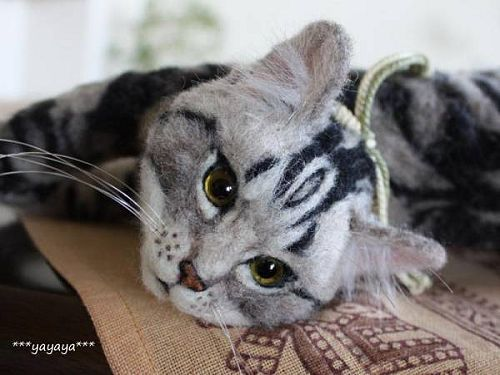 Absolutely amazing needle felted cat