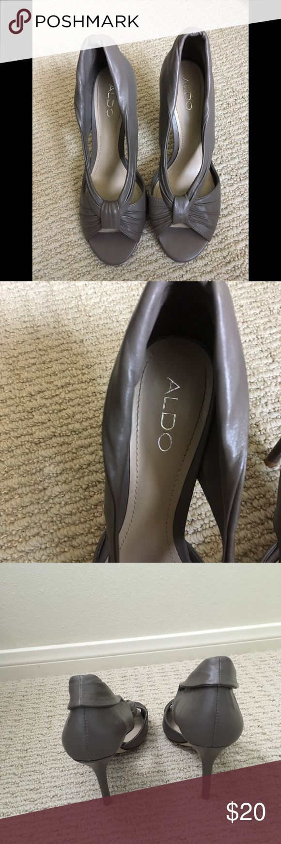 Gray/pewter shoes Gray/pewter heels Aldo Shoes Heels