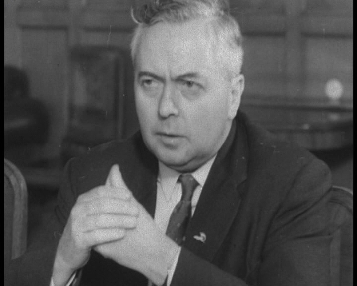 In this still from a 1963 British Pathé newsreel, the new Labour leader Harold Wilson sits down for a meeting with Khrushchev: http://www.britishpathe.com/video/harold-wilson-meets-mr-k/