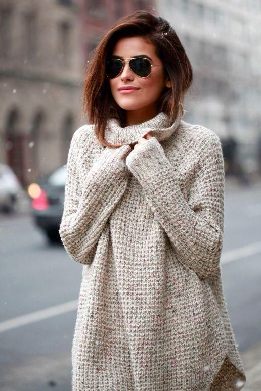 Oversized Speckled Luxe Knit Cowl Neck Sweater - RESTOCKED