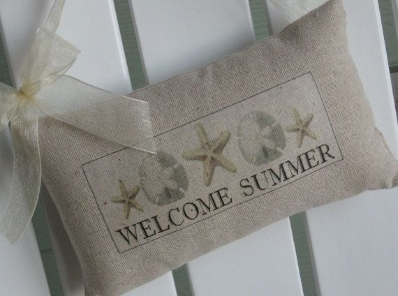 Door Sign Welcome Summer Vacation Personalized by AbundantHaven, $17.95
