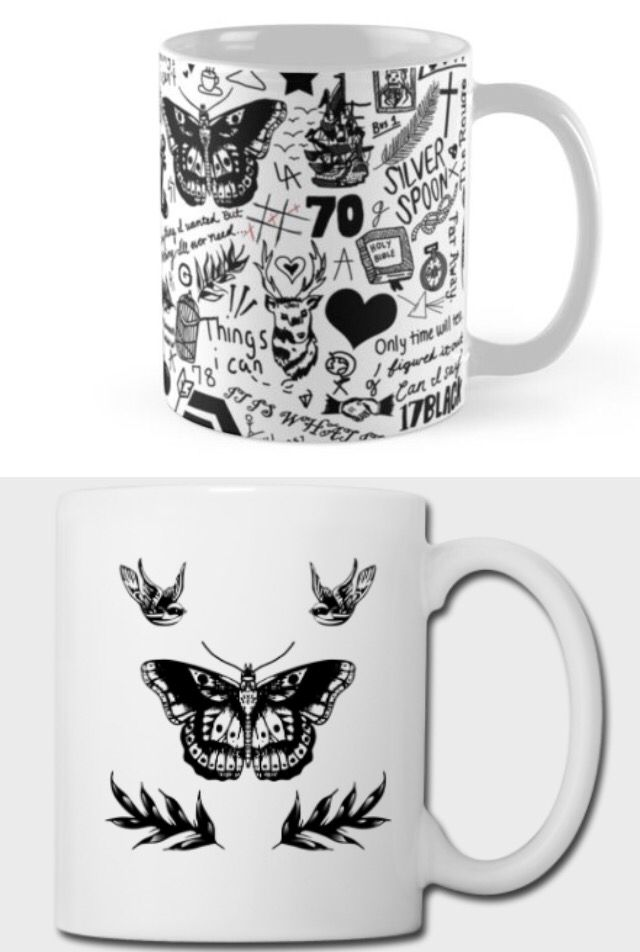 One Direction tattoo mugs