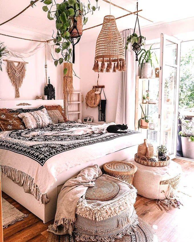 How To Create The Perfect Boho Chic Bedroom Posh Pennies Bohemian House Decor Bedroom Decor Modern Bohemian Bedroom