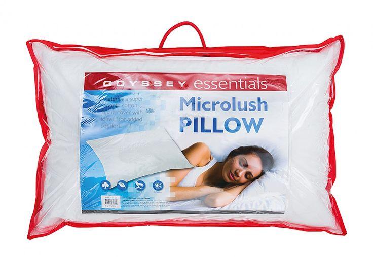 Odyssey Essentials Microlush Pillow | Super Amart
