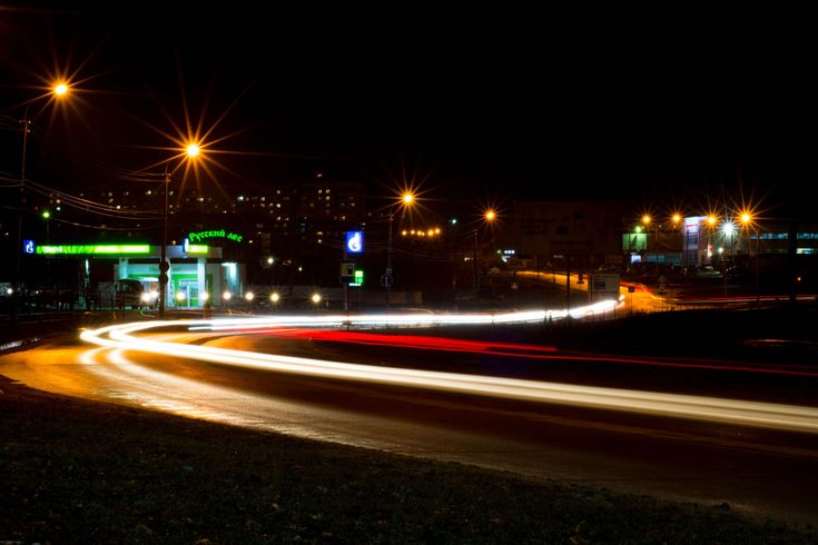 #freezelight #long exposure #night #road #russia #russian city #russian road