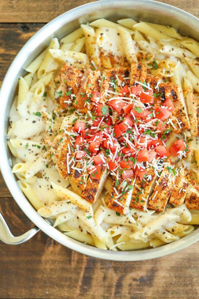 Get the recipe: Cajun chicken pasta Image Source: Damn Delicious