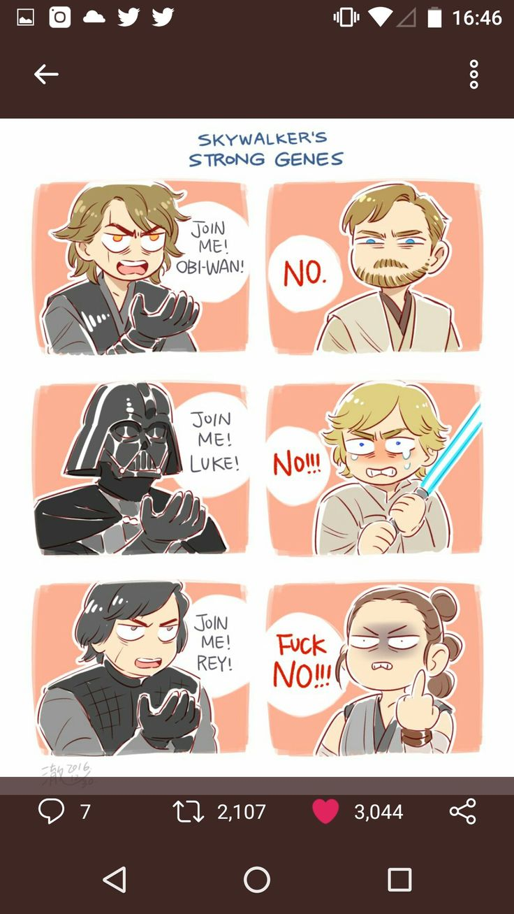 haha so true (at least Luke didn't turn to the Dark Side though)