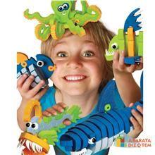 É hora de começar a explorar a floresta com o . Basta seguir as simples instruções ou usar a imaginação para transformar esse macaco. Um brinquedo Educativo que desenvolve a coordenação motora orientação espacial e criatividade, são 54 peças de espuma atóxica e conectores de plastico, para construir o personagem impressionante em 3D, ou usar sua imaginação para inventar suas próprias criaturas.