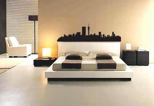 A wall decal of the Jozi skyline