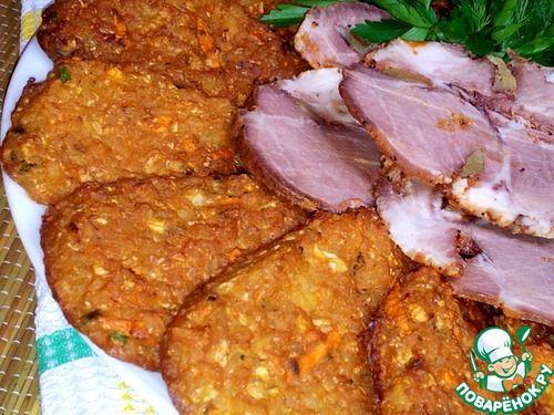 Лепёшки из риса и цветной капусты - кулинарный рецепт