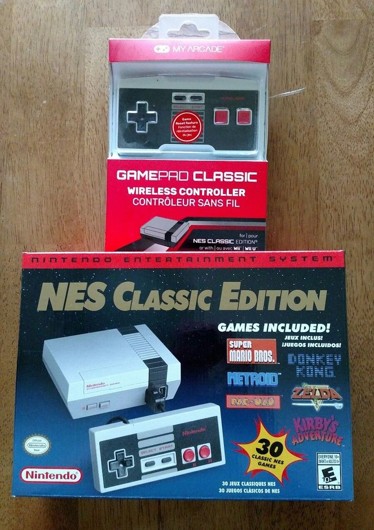 BRAND NEW IN HAND!! NES Classic Edition PLUS My Arcade wireless controller. Includes: My Arcade wireless gamepad Classic Mini NES with 30 classic NES ... #games #wireless #controller #console #mini #classic #edition #nintendo