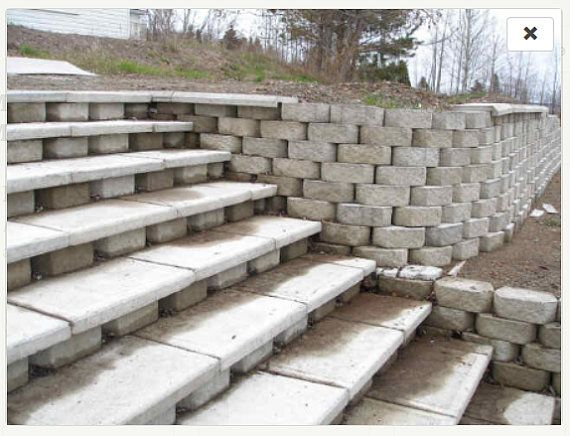 25 best ideas about Large retaining wall blocks on