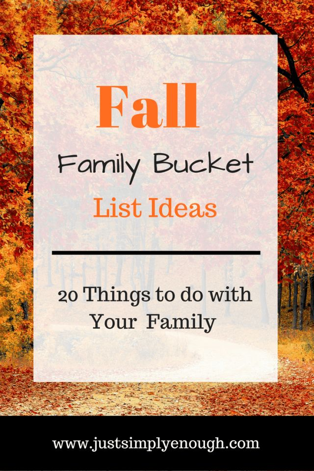 Fall Family Bucket List Ideas