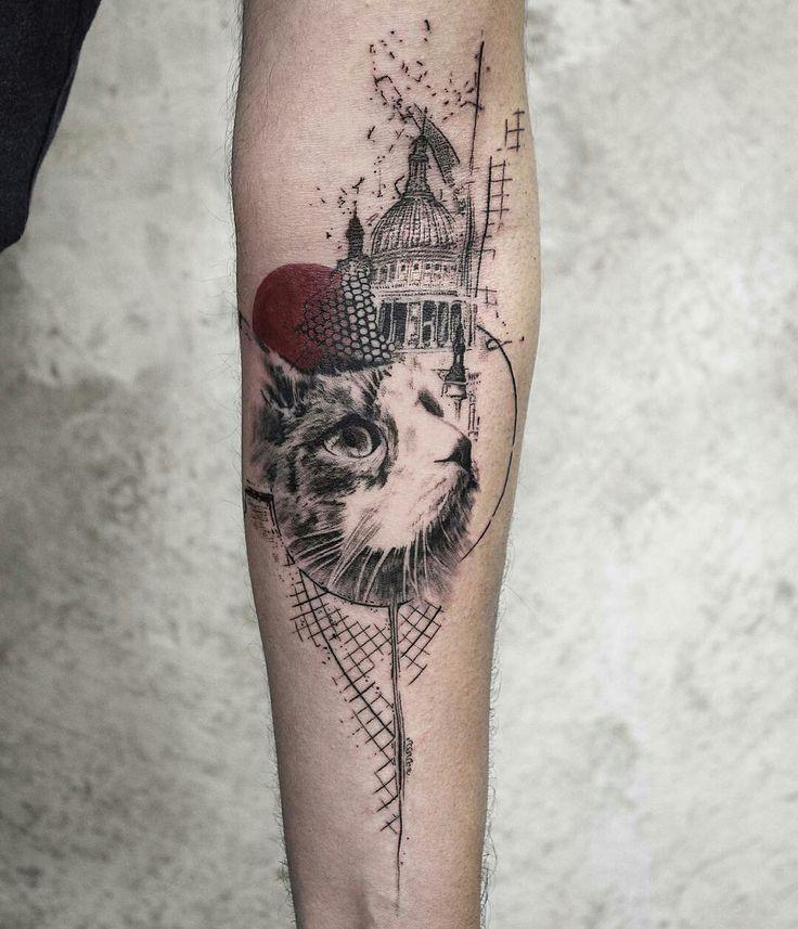 Tattoo done by: @koittattoo #cat #cattattoo #gato #catlover #mycat