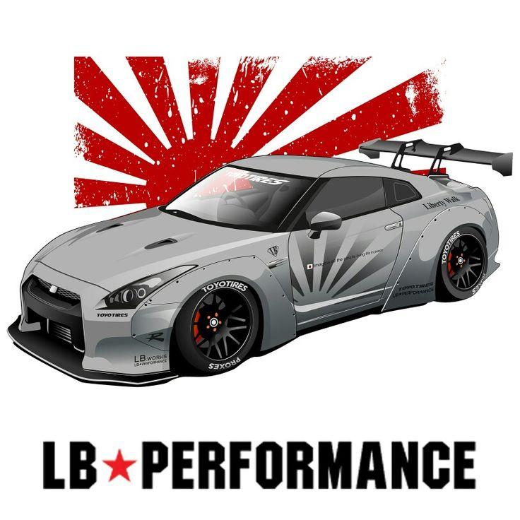 Nissan GTR aka Godzilla #supercar #liberty walk #nissangtr #rocketbunny