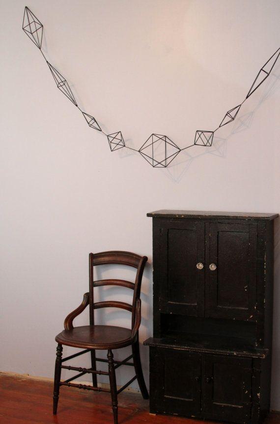 Geometric Garland - 9 feet Long - Scandinavian himmeli mobile
