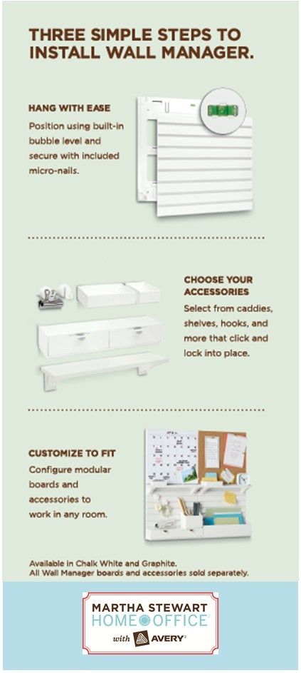 Take organization to new heights with a wall manager that is simple to install. (from tiff - I actually have some of these and I wish EVERY picture frame I had was this easy to hang...seriously GENIUS!!!)