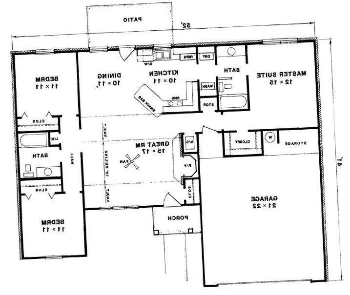 Three bedroom bungalow design - https://bedroom-design-2017.info/style/three-bedroom-bungalow-design.html. #bedroomdesign2017 #bedroom