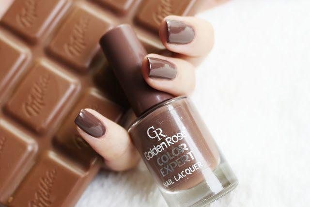 Basia Smoter Beauty Blog   Blog kosmetyczny : Czekoladowe paznokcie, Golden Rose Color Expert 72