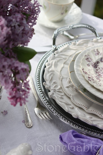 StoneGable: Lilac Tablescape