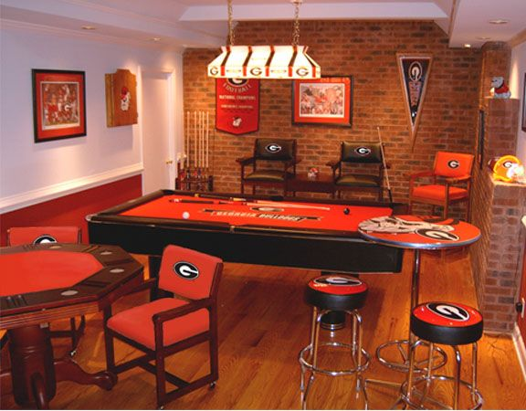 I love a nice sports themed man cave  This is awesome. 85 best Go dawgs  images on Pinterest   Georgia bulldogs  Football