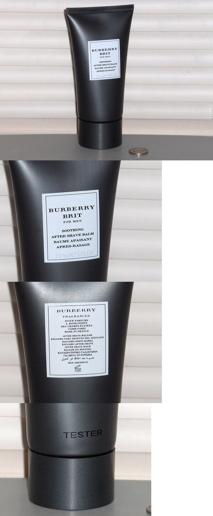 Aftershave and Pre-Shave: Burberry Brit For Men, Soothing After Shave Balm, Aftershave, 5 Oz., 150 Ml, New BUY IT NOW ONLY: $48.95