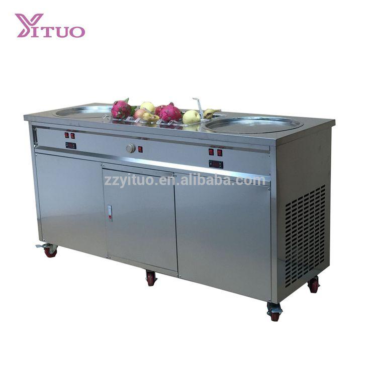Panasonic Automatic Defrost 50 cm Flat Pan Roll Fried Ice Cream Machine