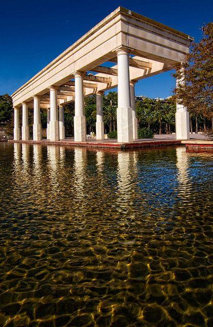 Este es un parque en Valencia Spain. Hay mucho espacio y tambien un lago.