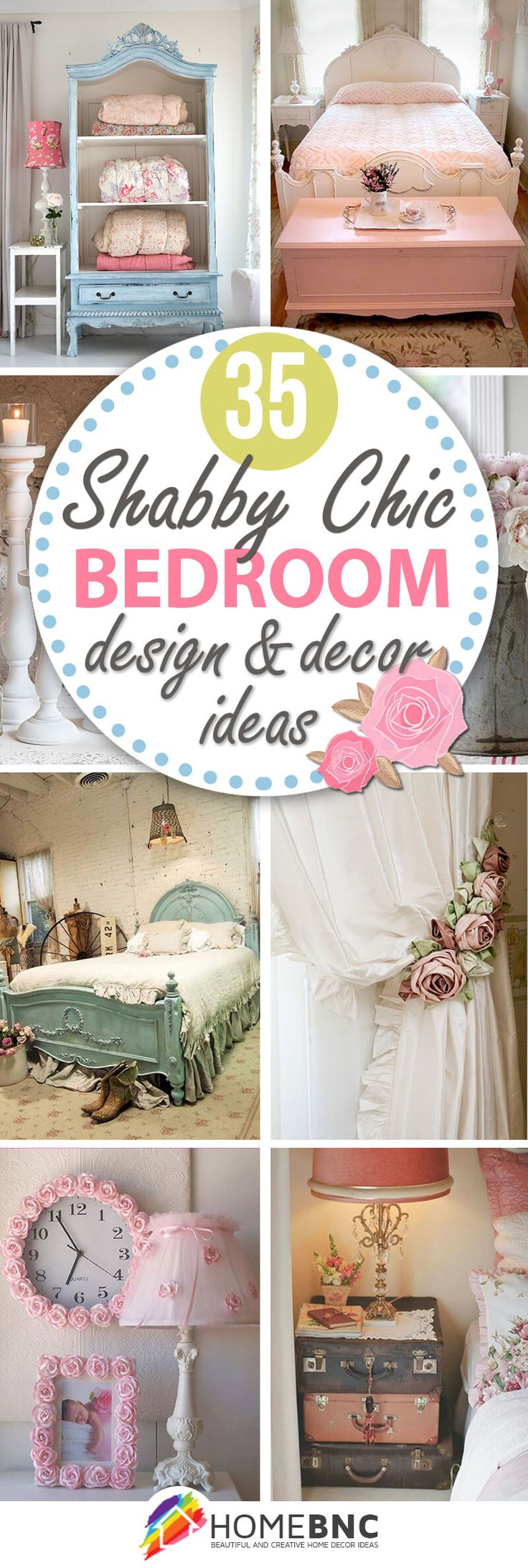 Vintage shabby chic bedroom