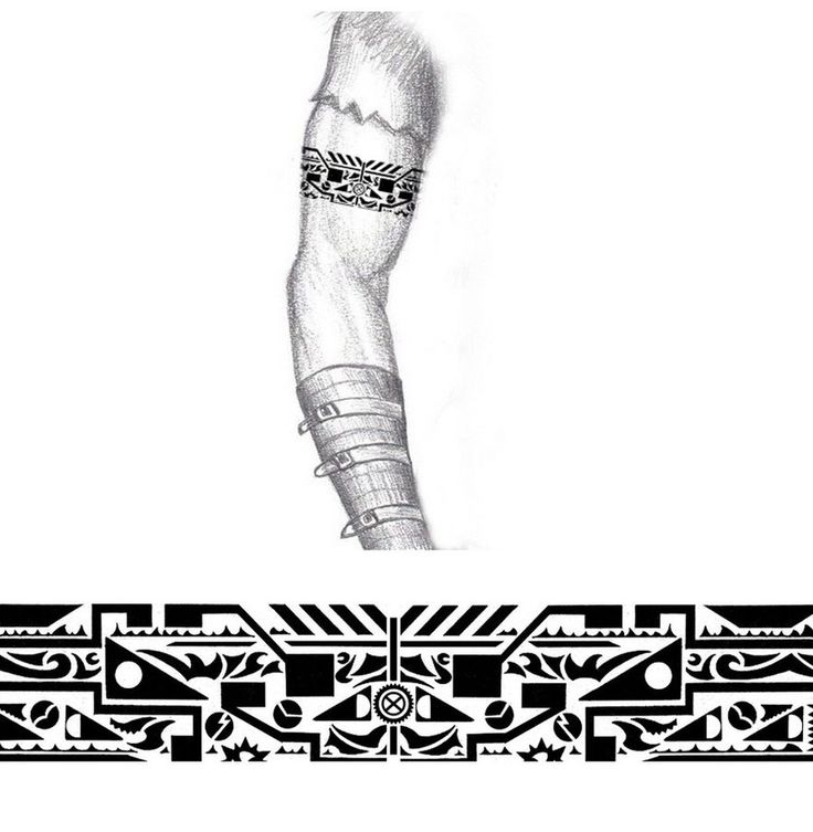 Tribal Industrial arm band tattoo by thehoundofulster on @DeviantArt