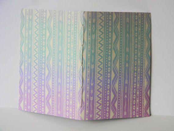 Iradescent Tribal Arrow Design Journal Sketch by CaliClothShop