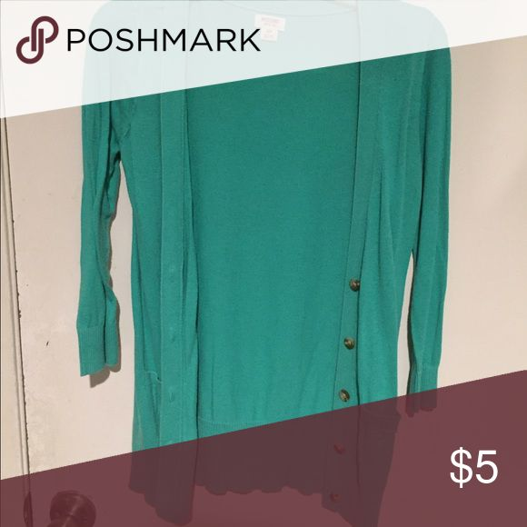 Turquoise cardigan Small Sweaters Cardigans