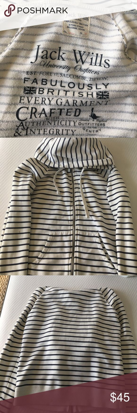 Jack Wills Nautical Zip Hoodie Soft cotton hoodie from a fabulous British brand. Other