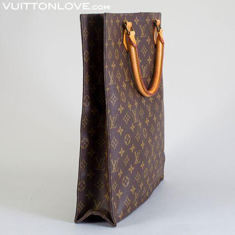 Vintage LV Louis Vuitton väska Sac Plat Monogram Canvas Vuitton Love