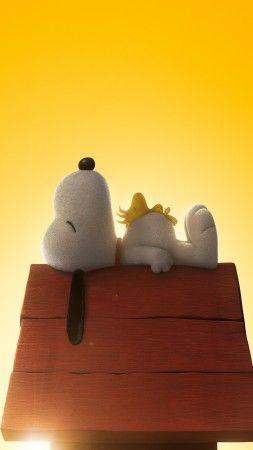 Мелочь пузатая, 2015, мультфильм, фильм, кино, собака, щенок, желтый, Бил Мелендез, Снуппи, Ноа, Чарли Браун (vertical)