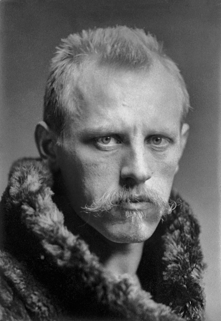Fridtjof Nansen, c. 1897, age 36. He was a Norwegian explorer, scientist, and Nobel laureate, and could certainly pass for a Viking of old.
