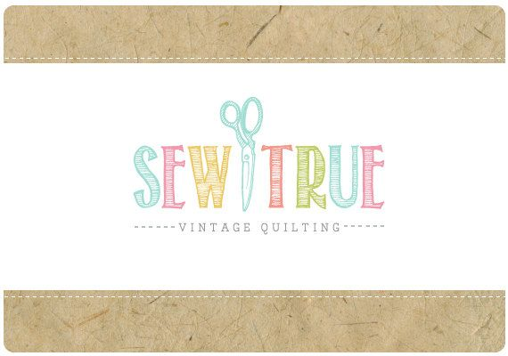 Custom Logo    PreDesigned PreMade Logo SEW TRUE by StarlingMemory, $125.00...hmmm maybe with an Eiffel Tower in the center instead.