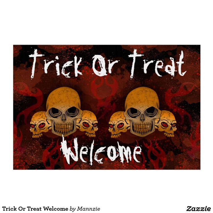 Trick Or Treat Welcome Sign